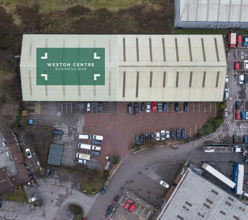 Aerial view of Weston Centre - Modern, Secure Storage Units